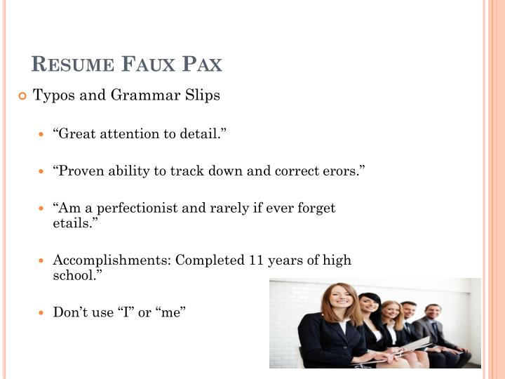 Resume Faux