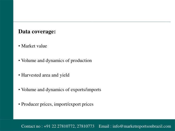 Data coverage