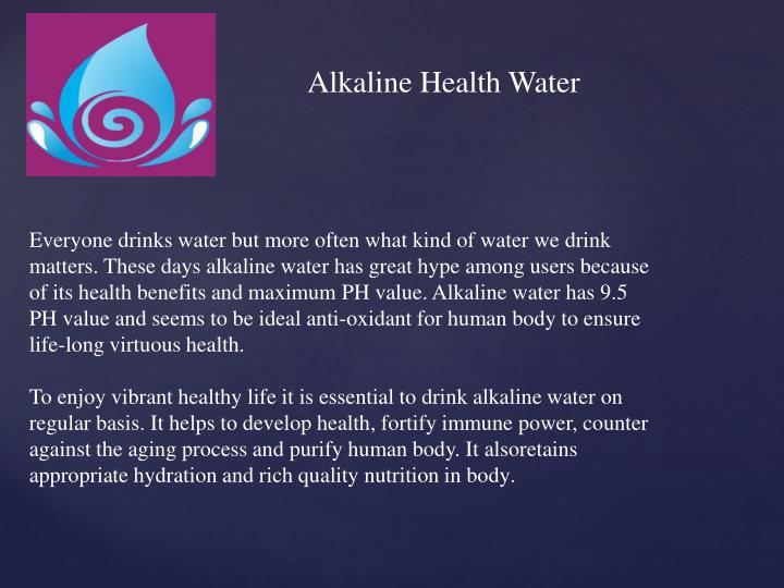 Alkaline Health Water