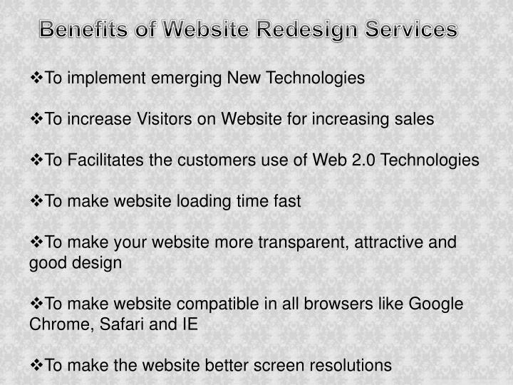 Benefits of Website Redesign Services