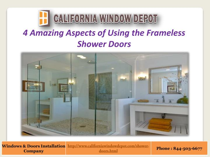 4 Amazing Aspects of Using the Frameless Shower Doors