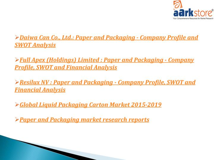 paper market research reports In need global paper & pulp mills of industry data industry statistics are available in these ibisworld global market research reports view it here today.