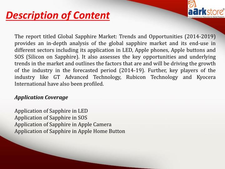 Description of Content