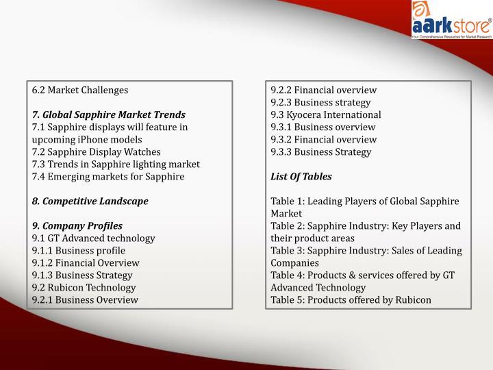 6.2 Market Challenges
