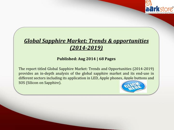 Global Sapphire Market: Trends & opportunities (2014-2019
