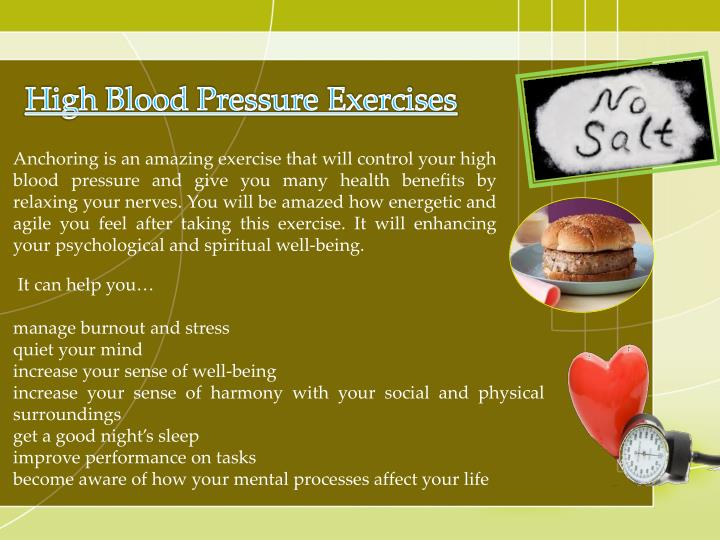 High Blood Pressure Exercises