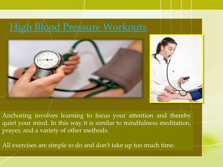 High blood pressure workouts
