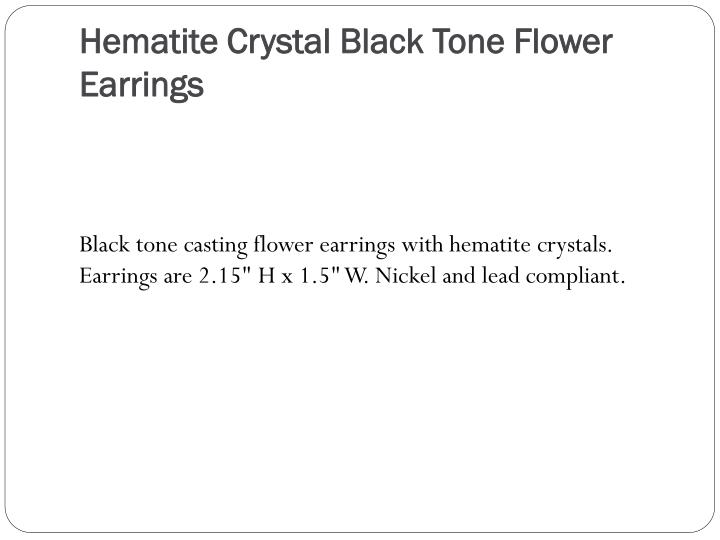 Hematite Crystal Black Tone Flower