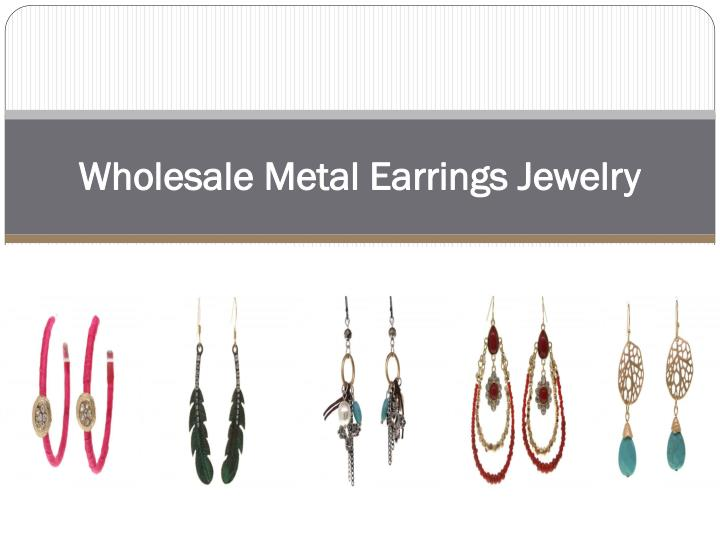 wholesale metal earrings jewelry