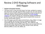 review 2 dvd ripping software and dvd ripper2