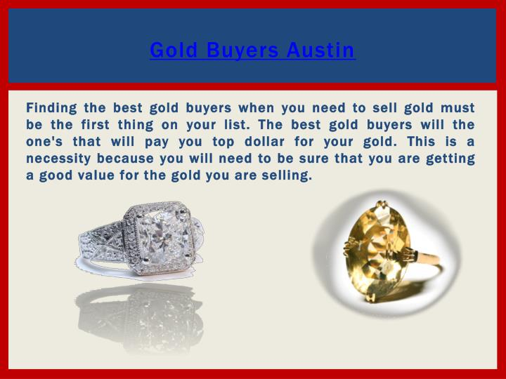Gold buyers austin