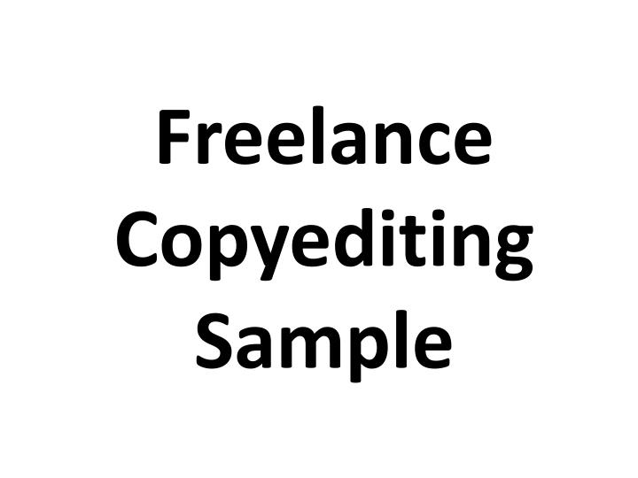 freelance copyediting sample