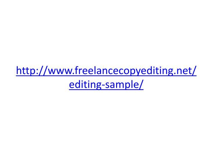 http://www.freelancecopyediting.net/editing-sample/