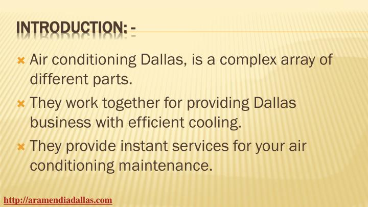 Air conditioning Dallas, is a complex array of different parts.