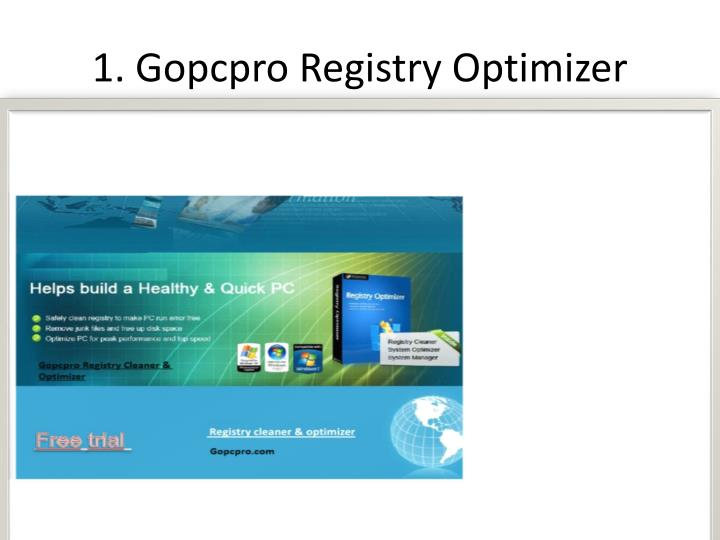 1 gopcpro registry optimizer