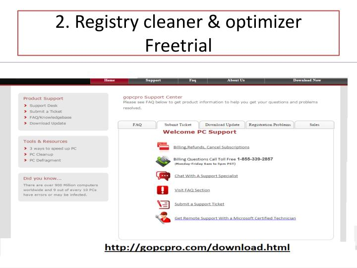 2 registry cleaner optimizer freetrial