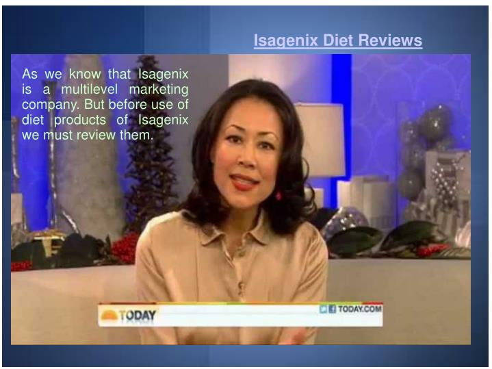 Isagenix Diet Reviews