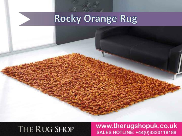 Rocky Orange Rug