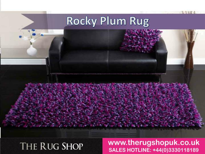 Rocky Plum Rug