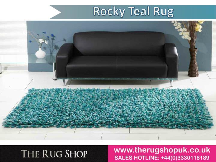 Rocky Teal Rug