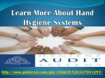 learn more about hand hygiene systems