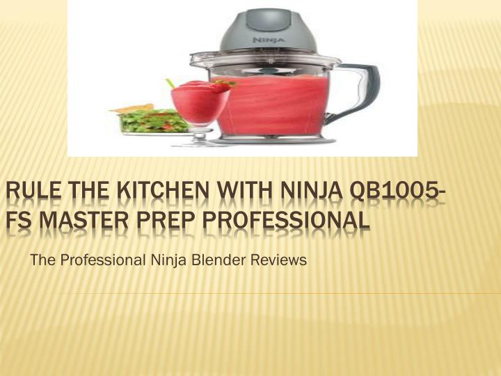 The Professional Ninja Blender Reviews