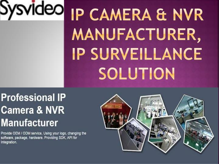 Ip camera nvr manufacturer ip surveillance solution