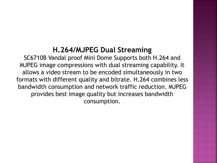 H.264/MJPEG Dual Streaming