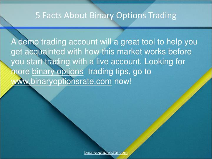 5 Facts About Binary Options Trading
