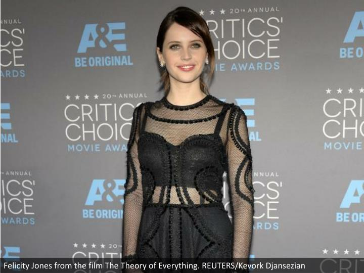 Felicity Jones from the film The Theory of Everything. REUTERS/Kevork Djansezian