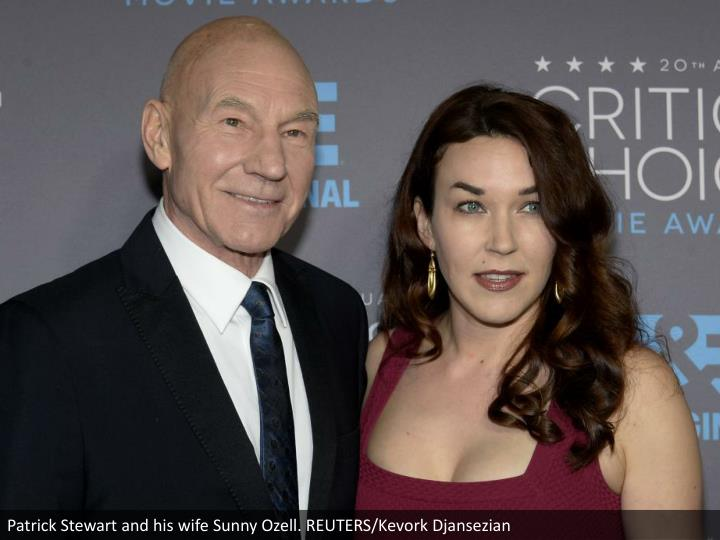 Patrick Stewart and his wife Sunny Ozell. REUTERS/Kevork Djansezian
