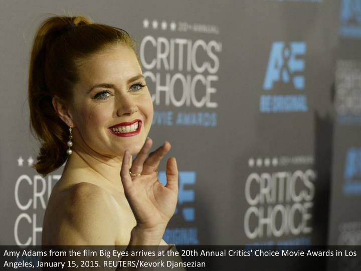 Amy Adams from the film Big Eyes arrives at the 20th Annual Critics' Choice Movie Awards in Los Angeles, January 15, 2015. REUTERS/Kevork Djansezian