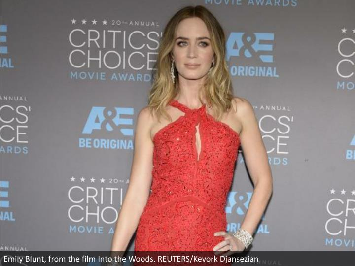 Emily Blunt, from the film Into the Woods. REUTERS/Kevork Djansezian