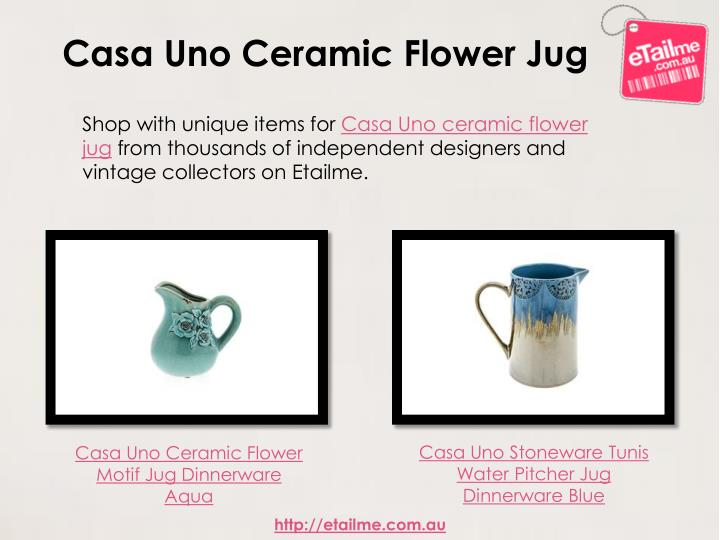 Casa Uno Ceramic Flower Jug