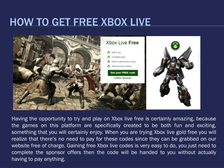 How To Get Free Xbox Live