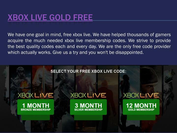 Xbox Live Gold Free