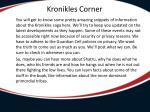 kronikles corner
