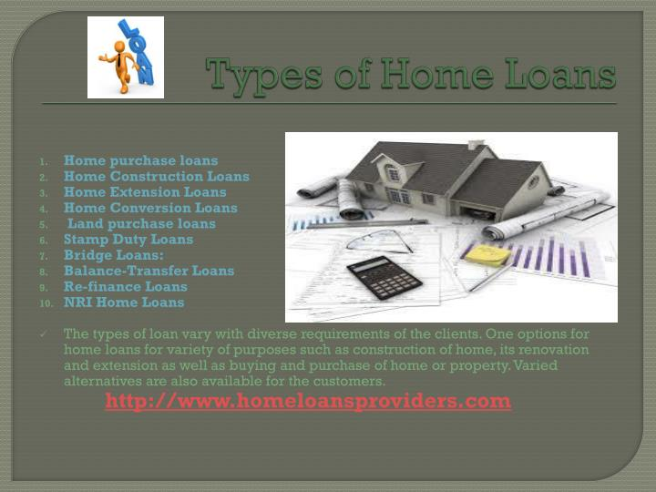 Types of home loans
