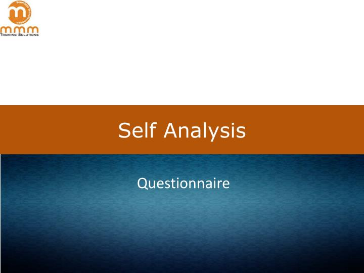 a self analysis as a leader Leaders need an annual review i see my physician annually, or more often as needed he checks the obvious including blood pressure, blood work up, height and weight.