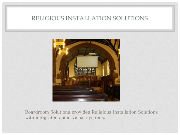 Religious Installation Solutions