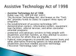 assistive technology act of 1998