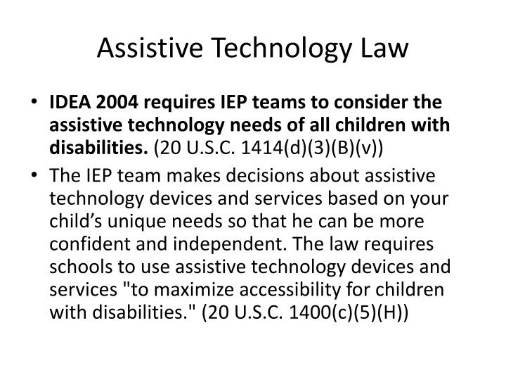 Assistive technology law