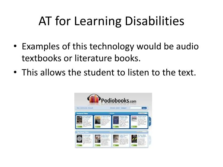 AT for Learning Disabilities