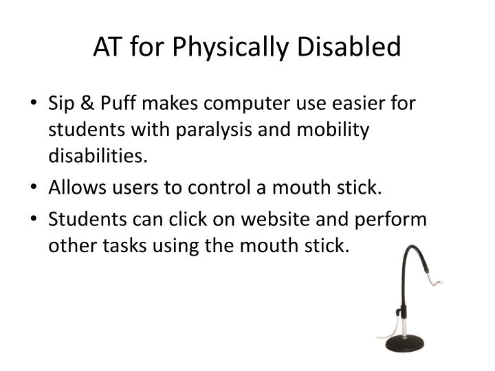 AT for Physically Disabled