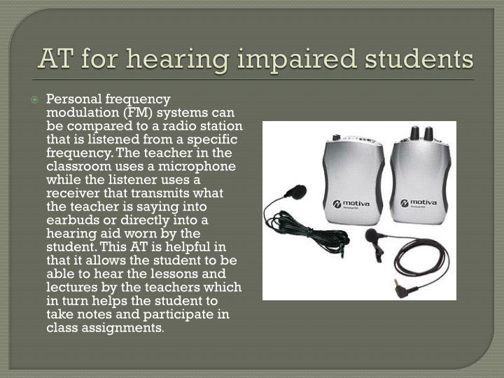 At for hearing impaired students