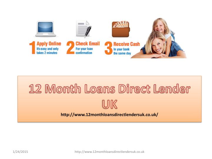 12 Month Loans Direct