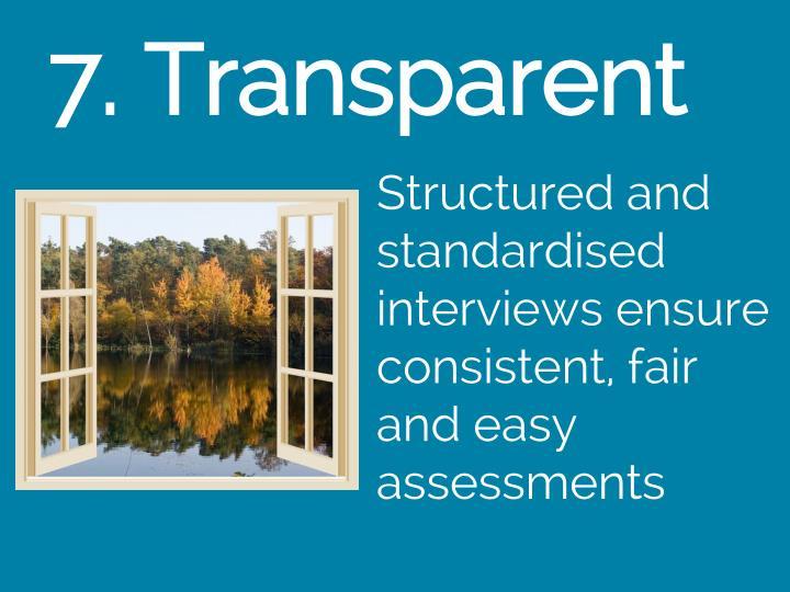7. Transparent
