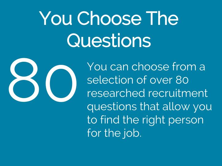 You Choose The Questions