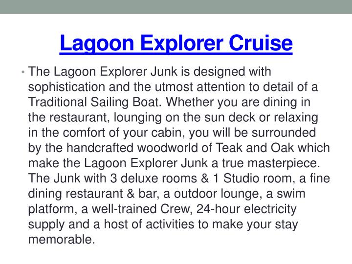 Lagoon explorer cruise1