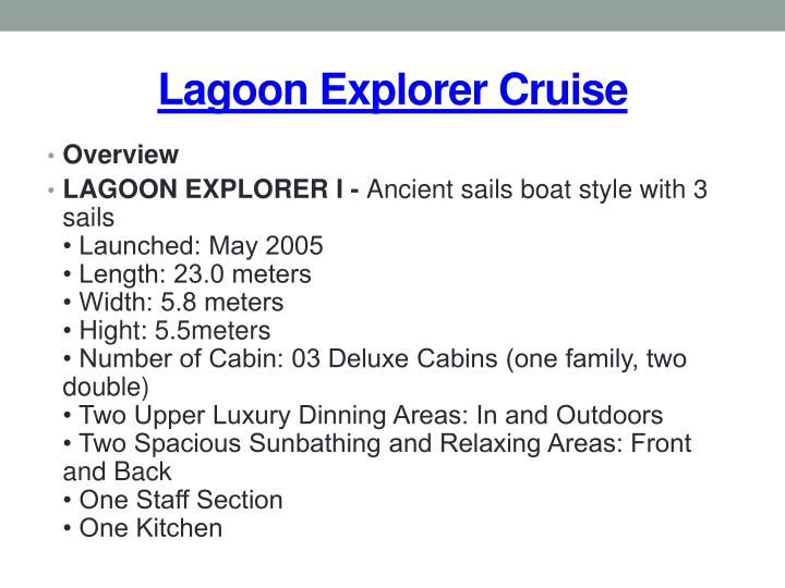Lagoon explorer cruise2